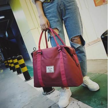 手提旅行包女健身包女輕便單肩包大容量行李包登機包短途旅遊包袋