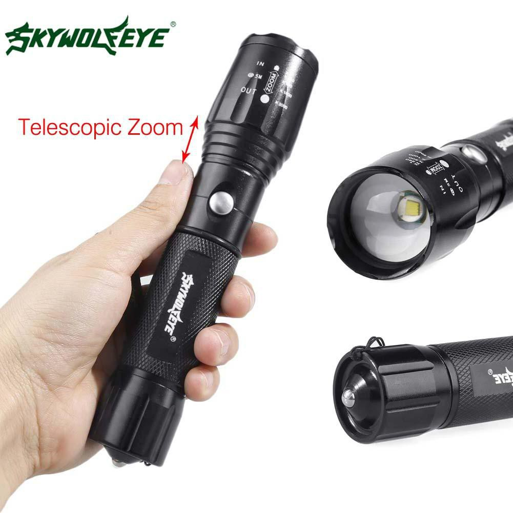 6000LM CREE T6 LED 充電手電筒18650