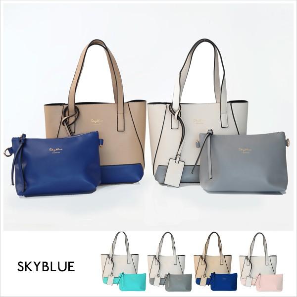 skyblue 原創 撞色燙金斜背包中包共4 色A15151900 天藍小舖