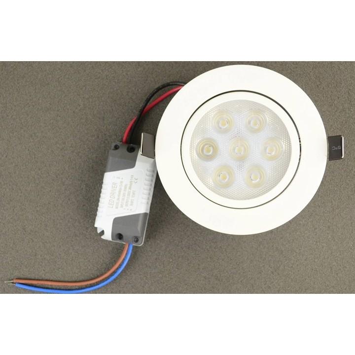 ~榕豐LED 照明燈具~LED 崁燈700 流明7 晶開孔90mm 可調角度正白光暖白光自