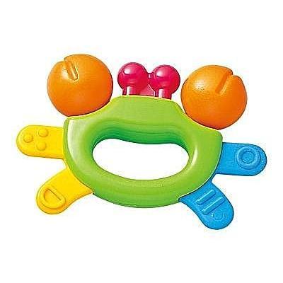 ~美國媽咪~Toyroyal 樂雅3234 螃蟹搖鈴系列無塗裝寶寶安心玩具台中 可