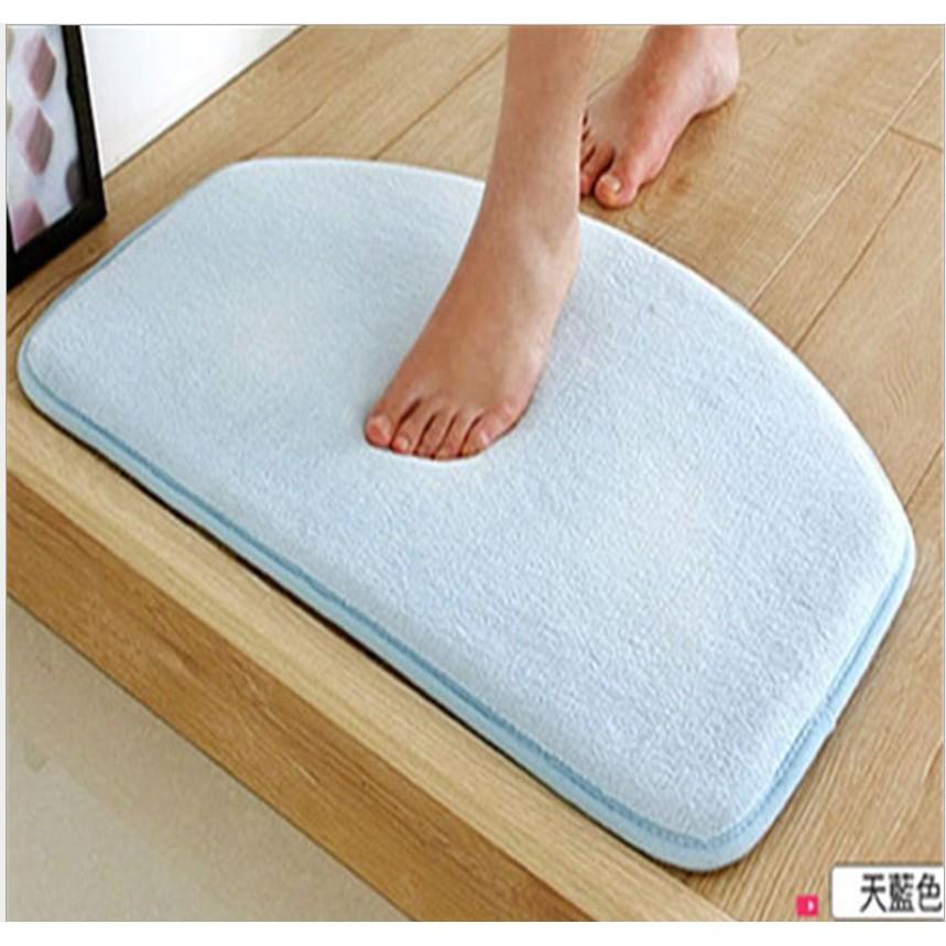 米樂小鋪特厚珊瑚絨吸水地墊舒適柔軟防滑墊浴室墊防水墊腳踏墊浴室防滑