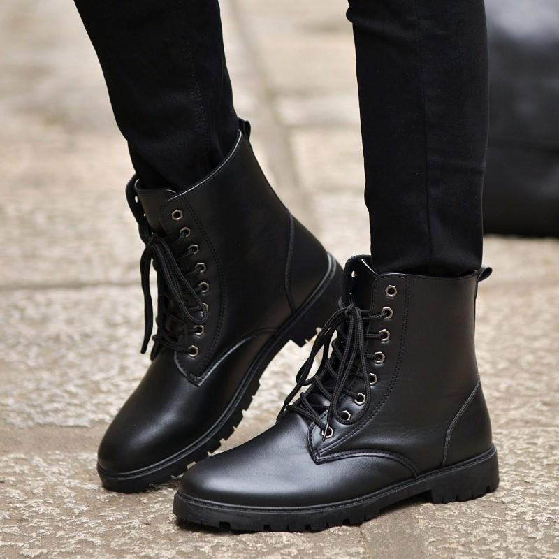 軍靴男士馬丁靴 潮流男鞋特種兵皮靴高幫沙漠潮男男靴子