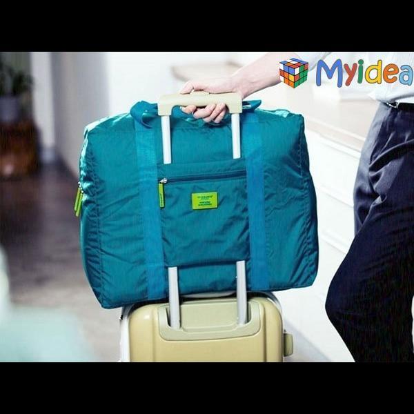旅行好好玩多 折疊旅行收納包 收納袋衣服整理袋登機包可肩背可手提大容量旅遊包收起來不占空間