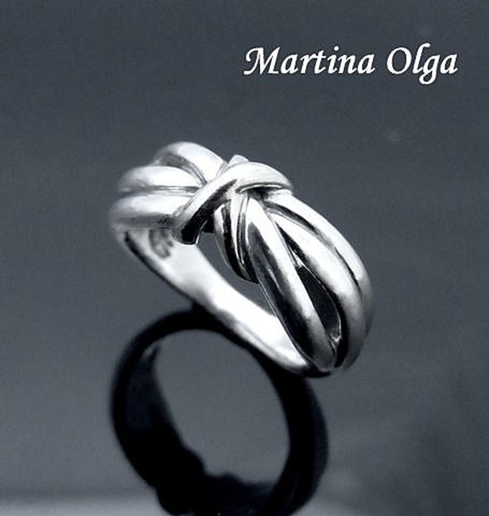 奧嘉 銀飾925 純銀極簡多線結型戒指 優雅蒂芙尼喬治傑生參考蝴蝶結麻花流線MR0071