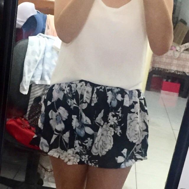 鬆緊花褲裙