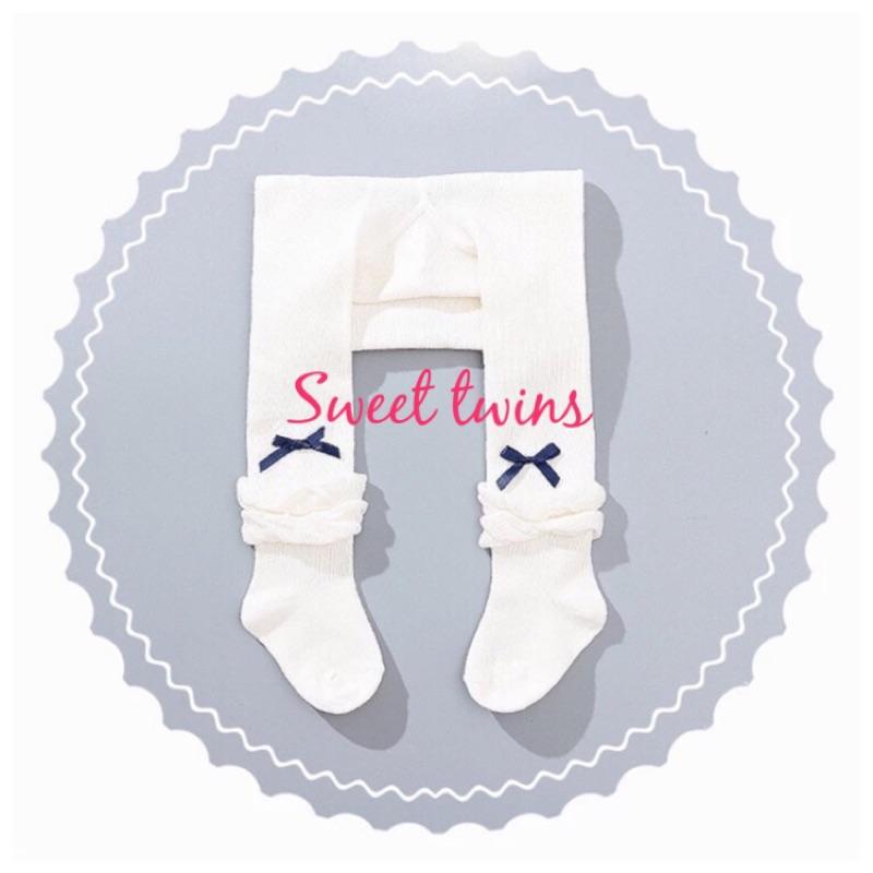 Sweet twins 花邊泡泡蝴蝶結寶寶連體褲襪打底褲~ 不必等~