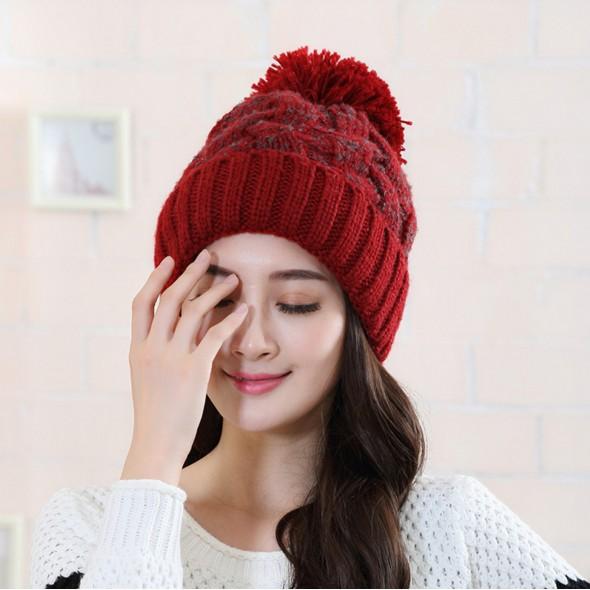 韓國秋 帽子女可愛大麻花加絨針織帽冬天保暖護耳毛線帽潮