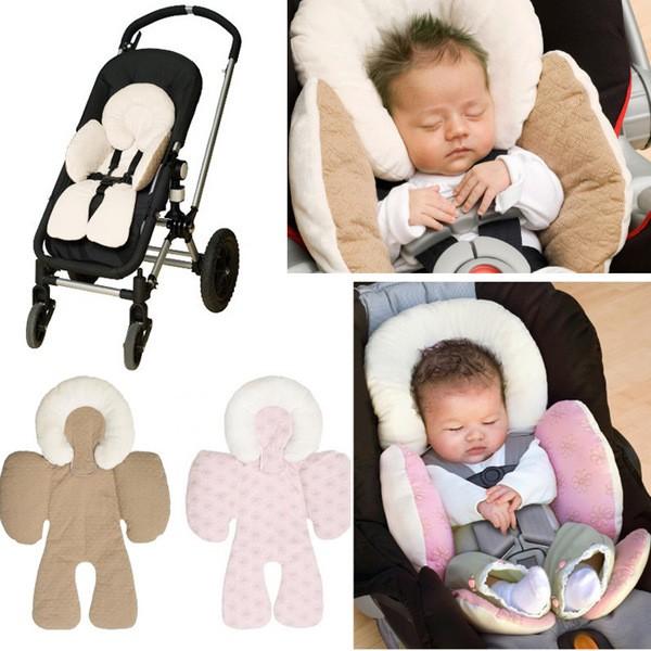 美國JJ COLE 新生嬰兒推車坐墊保護墊汽車座椅坐墊寶寶安全保護枕雙面 護頭墊3 色