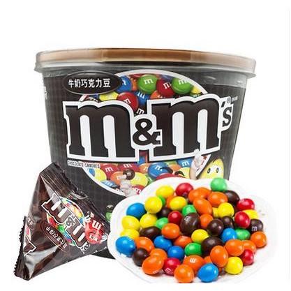 德芙mms 牛奶巧克力豆全家桶碗裝270g mm 豆兒童 糖果限區包郵