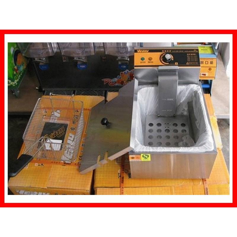 廠商直送8L 單缸溫控電熱油炸爐電炸爐油炸機降很多