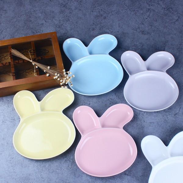 超可愛卡通兔子水果盤兒童餐盤