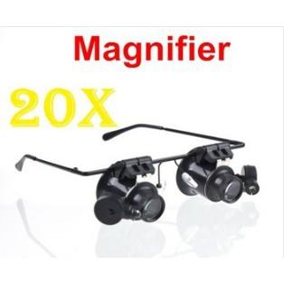 眼鏡類型20X 手錶修理放大鏡與LED 燈