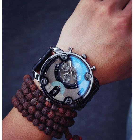 軍錶韓國皮帶復古潮流 潮流陳冠希男女學生超大錶盤手錶石英表