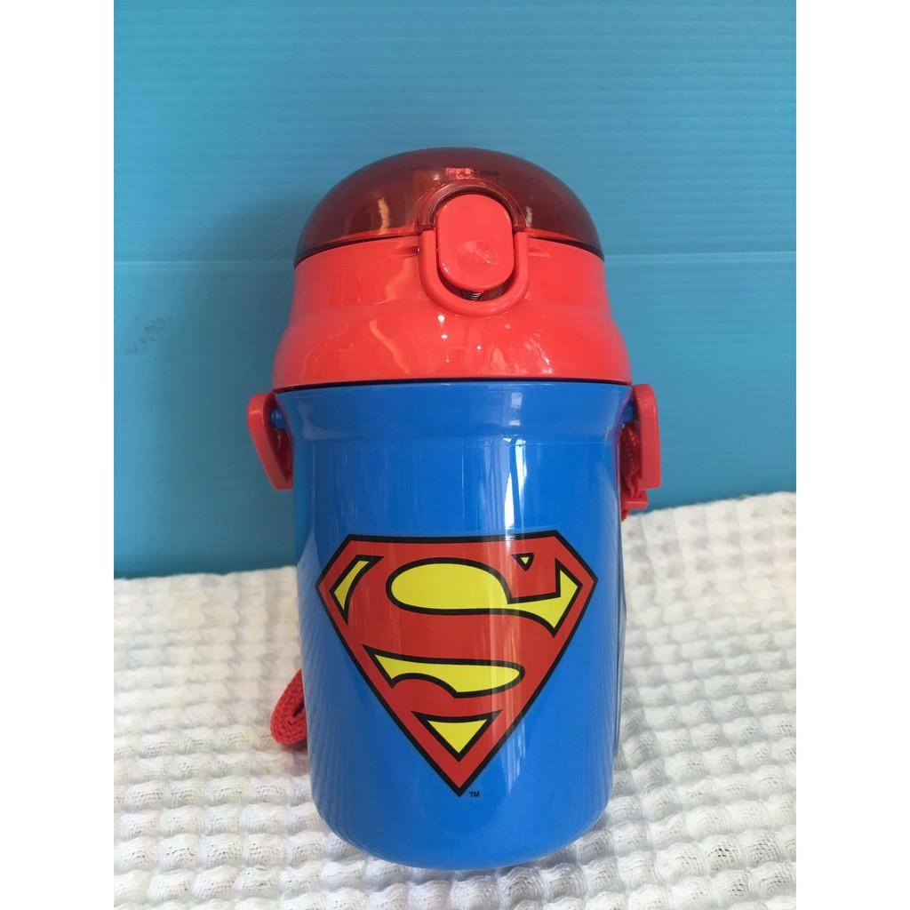 陽光屋 SKATER 卡通 彈跳吸管水壺340ML 超人Superman