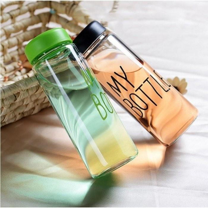 水杯~KCG106 ~My Bottle 繽紛色彩便攜玻璃杯440ml 水瓶寬口杯瓶子咖啡