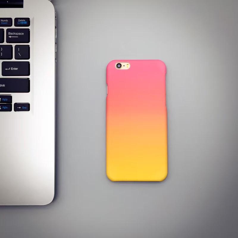 ~部分 ~漸變暈染蘋果iphone5 5s se 手機殼i6 6s4 7 半包磨砂硬殼i6