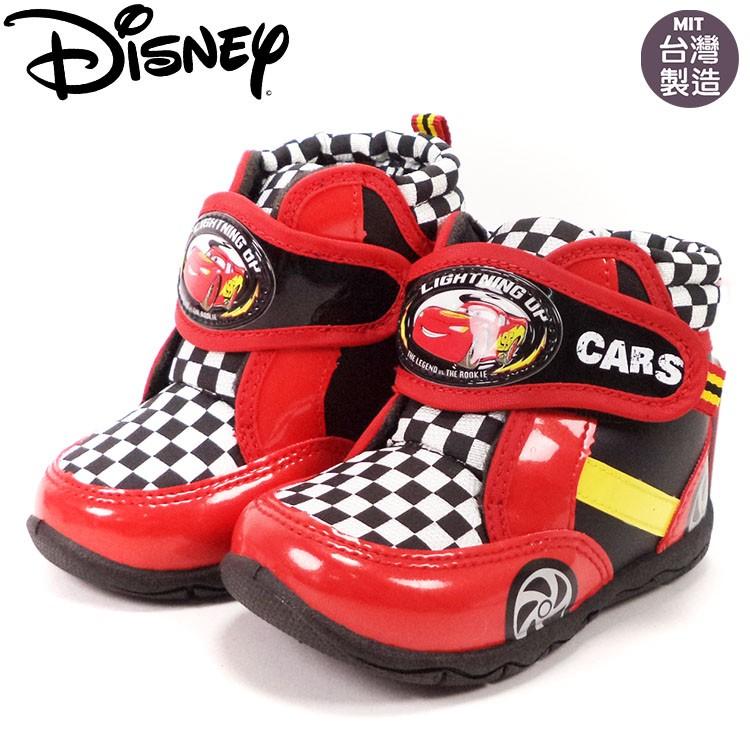 童鞋迪士尼麥坤兒童帥氣格紋短靴554611 紅15 19 號