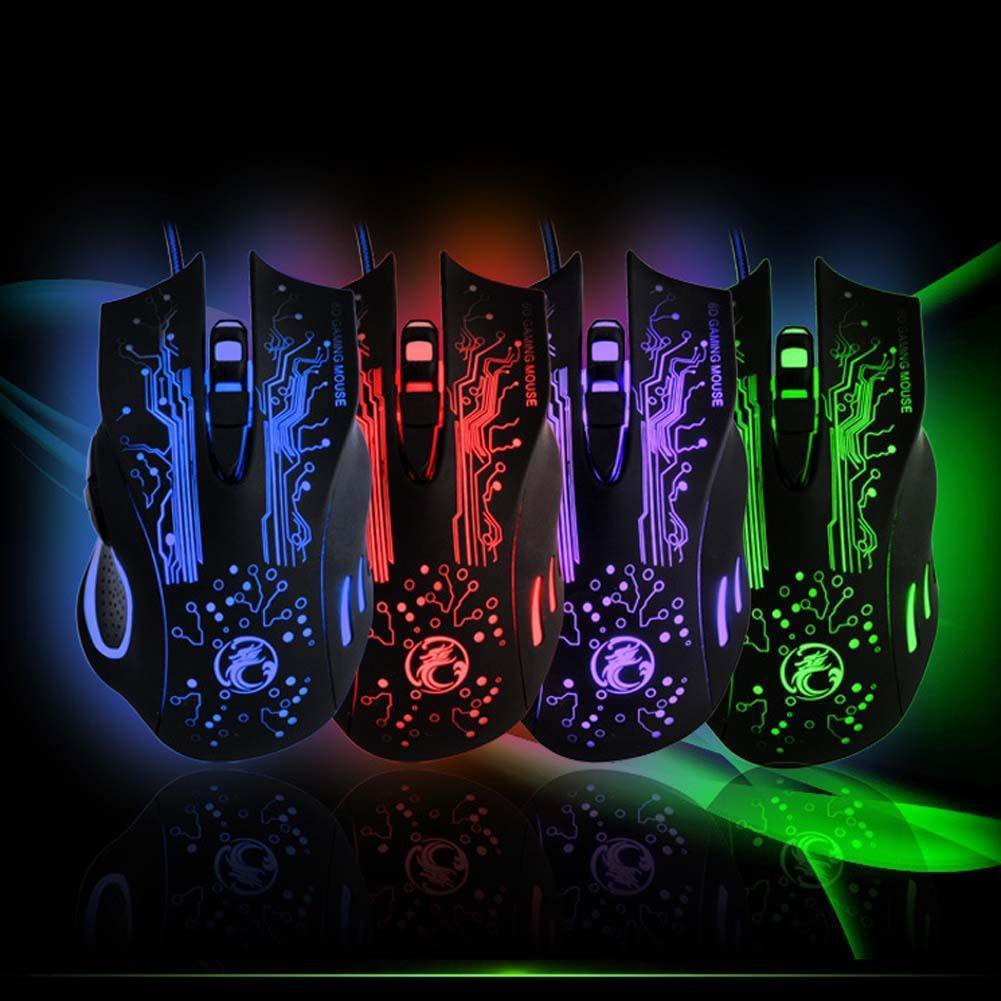 超酷炫五殺電競滑鼠2400DPILED 光學6DUSB 有線遊戲鼠標爆頭五殺超神滑鼠