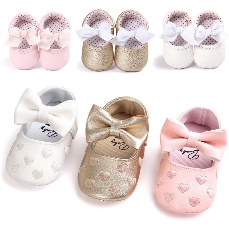~ ~ 女寶寶愛心蝴蝶結公主鞋嬰兒鞋寶寶防滑軟底學步鞋baby shoes