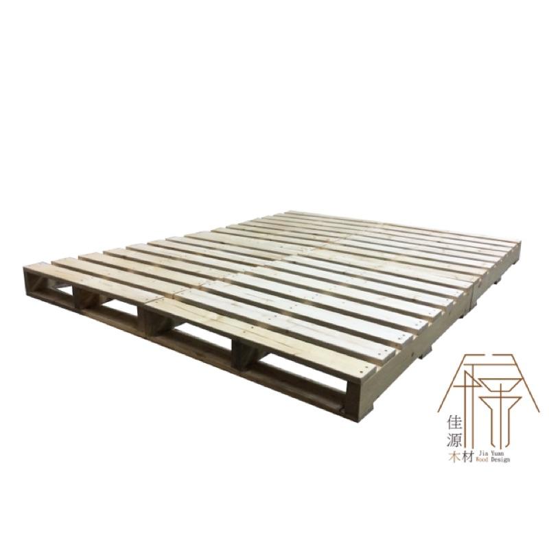 棧板床單人床雙人床床架床墊實木工業風原木