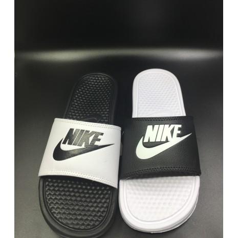 nike2016 黑白情侶鴛鴦黑白拖鞋 氣質人字拖一字拖 夾腳室內戶外防水拖鞋沙灘拖鞋居家