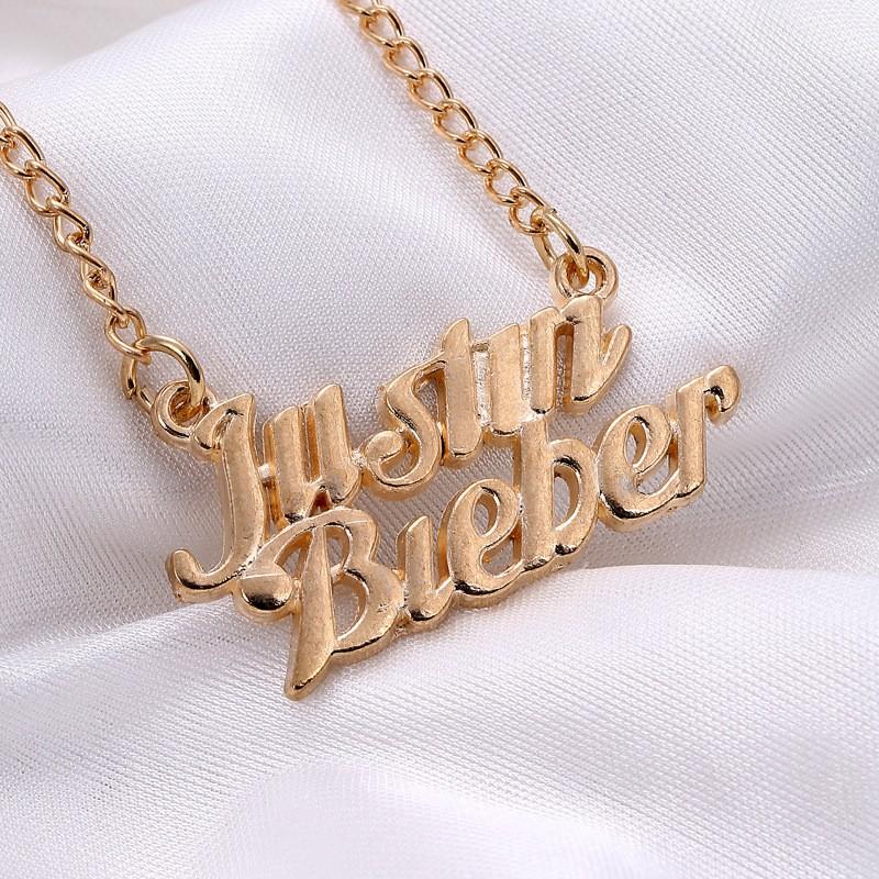 Justin Bieber 小賈斯汀姓名項鍊