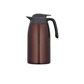 THERMOS 膳魔師2L 不鏽鋼真空保溫壺THV 2000 CBW 咖啡色