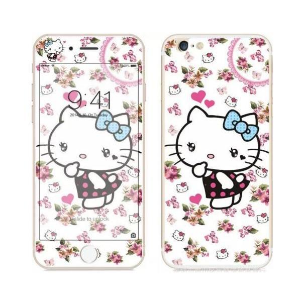 i6 i6plus 全版彩色玻璃貼前後二片保護貼kitty 鋼化膜iphone 彩膜保護膜