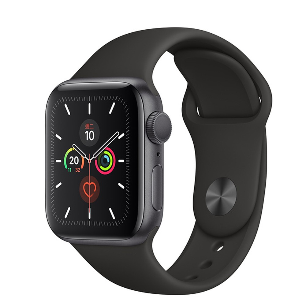 Apple Watch Series 5 40公釐太空灰色鋁金屬錶殼搭配運動型錶帶(GPS版) 廠商直送 現貨