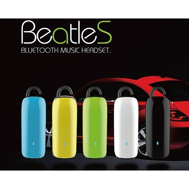 Jabees Beatles 立體聲藍芽耳機一對二可聽音樂MicroUSB 充電免持聽筒耳