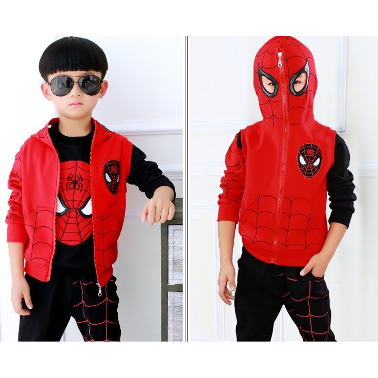 男童套裝8 秋款4 蜘蛛俠 5 春秋裝7 兒童衛衣6 9 小孩衣服11 周歲蜘蛛人童套裝男