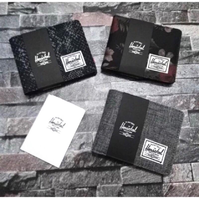 Herschel 皮夾錢包零錢包皮質 潮流單品滑板加拿大品牌素面黑花紋帆布 款點點