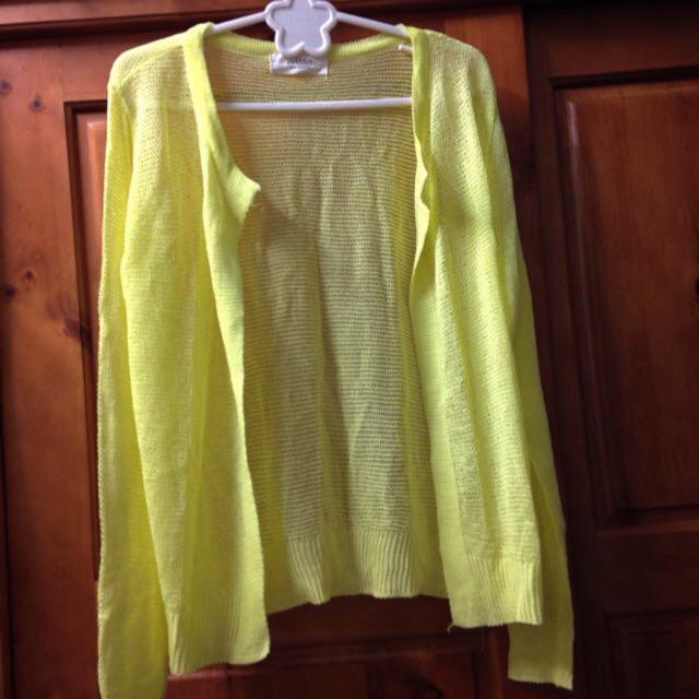 正韓製亮黃色針織小外套