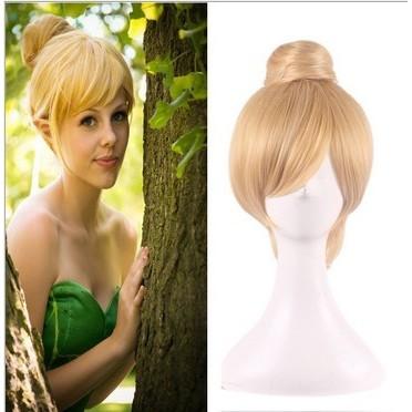 日常原宿包包頭修臉包臉短髮包頭金色女孩夏天小飛俠假髮角色扮演cosplay 天藍樹