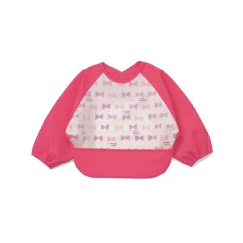 千趣會男女寶寶長袖防水反穿衣嬰兒兒童罩衣吃飯衣食飯兜