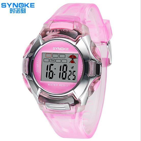 時諾刻兒童手錶夜光兒童手錶防水男孩女孩 數字表