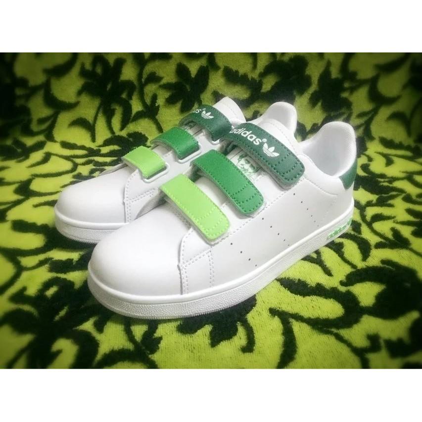 正品Adidas stan smith 愛迪達三葉草男鞋女鞋史密斯魔鬼氈漸層小白鞋休閒鞋板