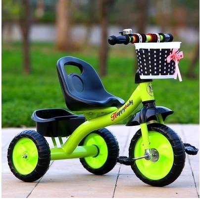 ~美佳樂~ 寶寶兒童三輪車腳踏車充氣輪1 2 3 5 歲玩具手推自行車童車