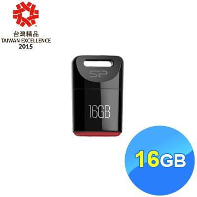 廣穎siliconpower T06 16G 隨身碟16GB 隨身碟黑色迷你 ,高密度塑膠