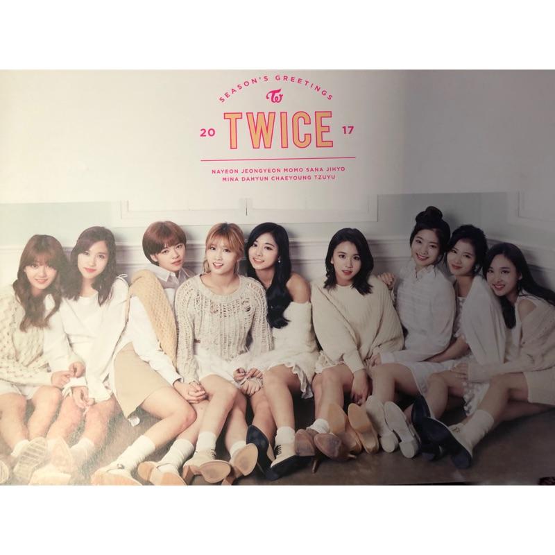 (特價出清)TWICE 2017 年曆 桌曆 行事曆