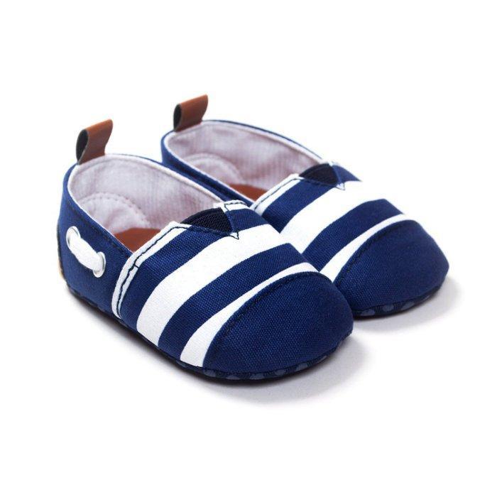 森林寶貝屋 藍白休閒鞋學步鞋幼兒鞋寶寶鞋娃娃鞋童鞋王子鞋學習鞋鬆緊 坐學步車穿彌月贈禮