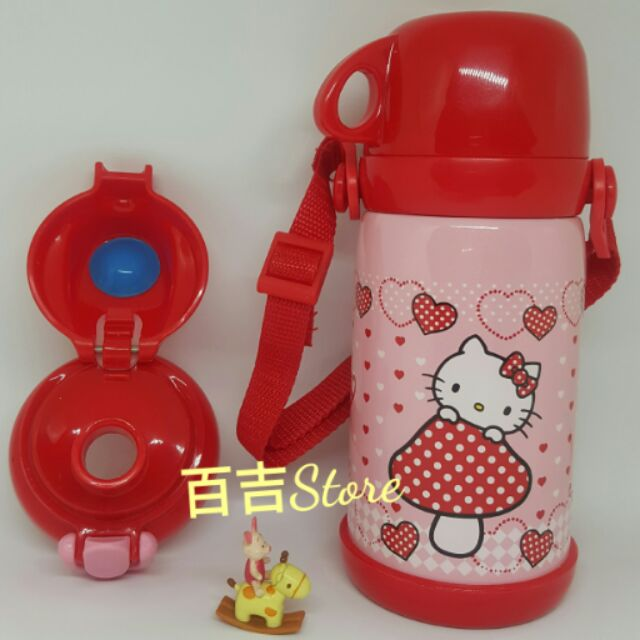 ♡ ♡hello kitty 凱蒂貓600ml 不鏽鋼保溫水壺保冷水壺背帶水壺(可替換成直