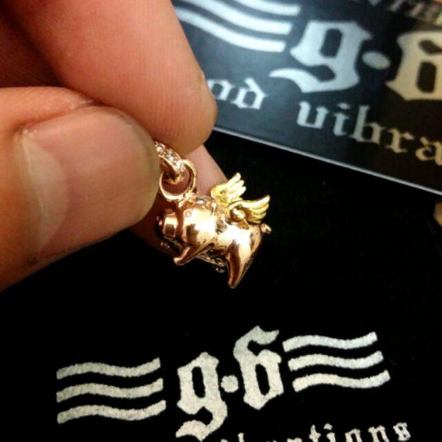 ~INK 銀飾~Good Vibrations GV 飛天豬的吊墜金和鍍黑款925 純銀墜