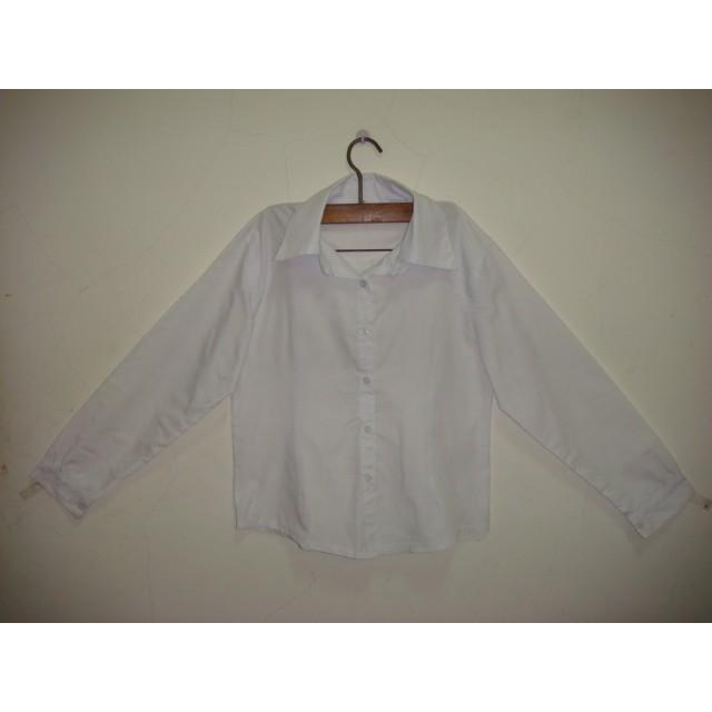 長袖白襯衫 女裝 少女裝 上衣 長袖衣