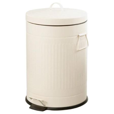 ~ NITORI ~象牙白色腳踏式垃圾桶20L 鋼質垃圾桶復古腳踏垃圾桶腳踩踏板垃圾桶垃圾