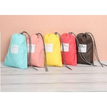 糖果色束口袋幸運袋防水旅行四件套包
