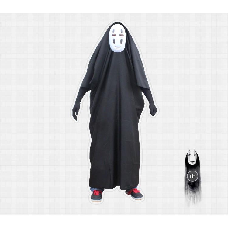 宮崎駿千與千尋無臉男cosplay 衣服面具手套全套服裝動漫道具