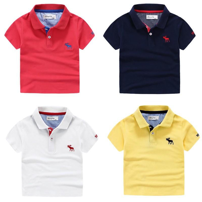 寶寶短袖polo 衫兒童純色純棉夏裝T 恤2017  上衣男童體恤