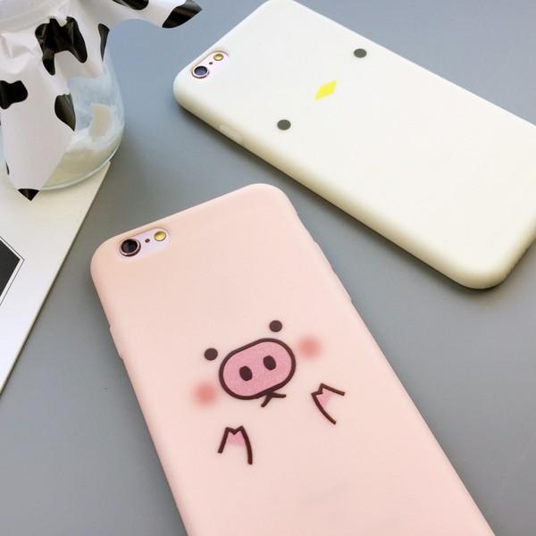 ~抱哥~雜貨舖~ 款韓國可愛小豬iPhone6s 手機殼蘋果6plus 保護套超薄防摔全包